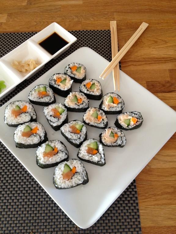 sushi maken recept ah