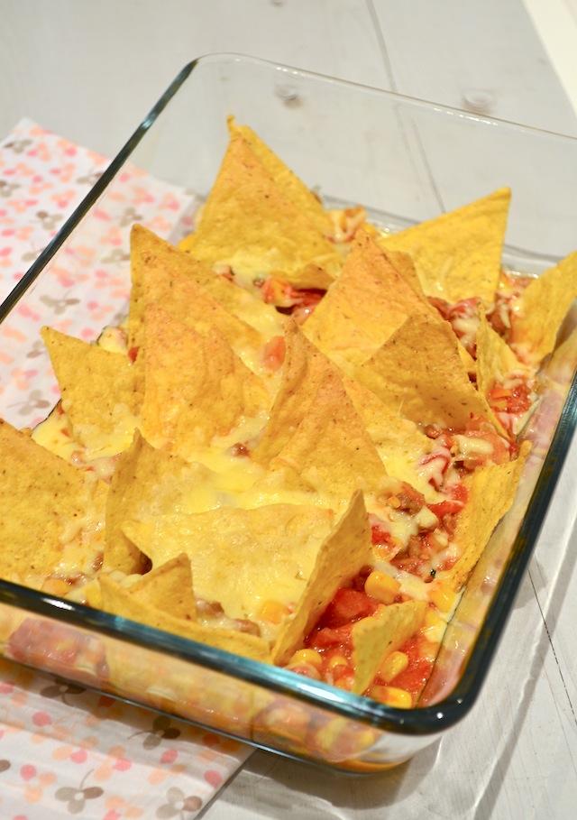 nacho schotel uit de oven
