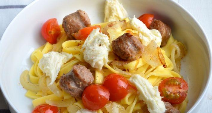 Pasta met Italiaanse worst