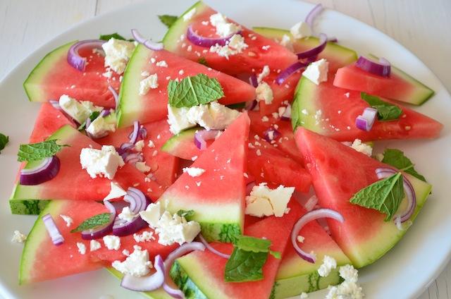 watermeloen en feta