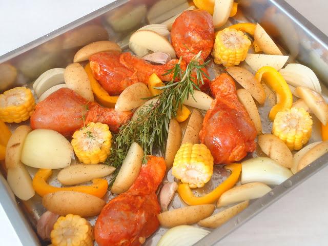 gegrilde kip uit de oven