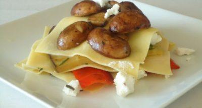 Open lasagne met gegrilde groente