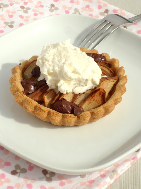 peer en chocolade taart