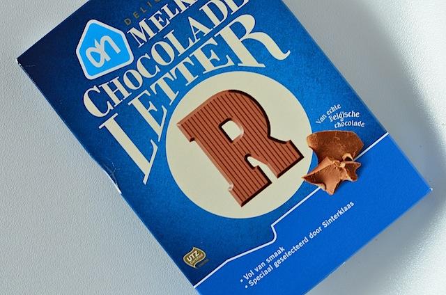 AH chocoladeletter