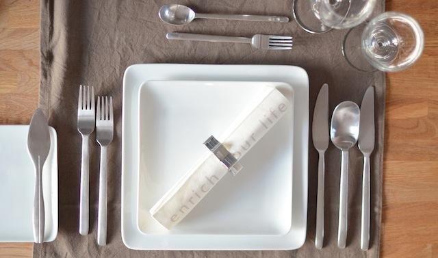 tafel dekken