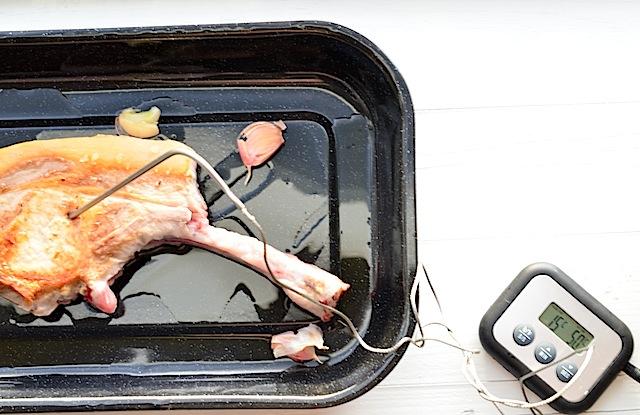 groot stuk vlees braden