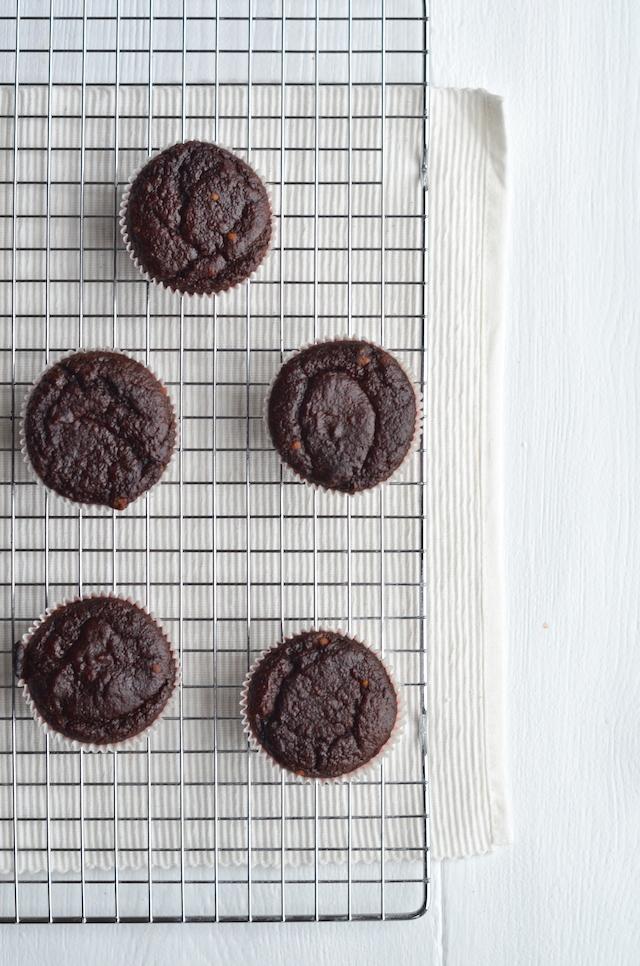 suikervrije chocolademuffins