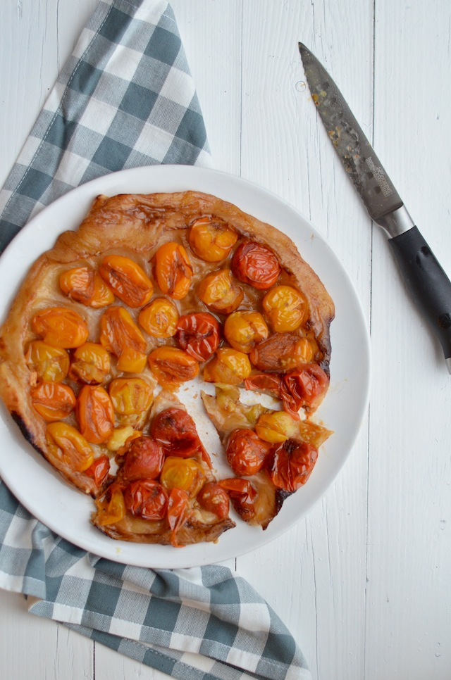 tarte tatin van tomaat