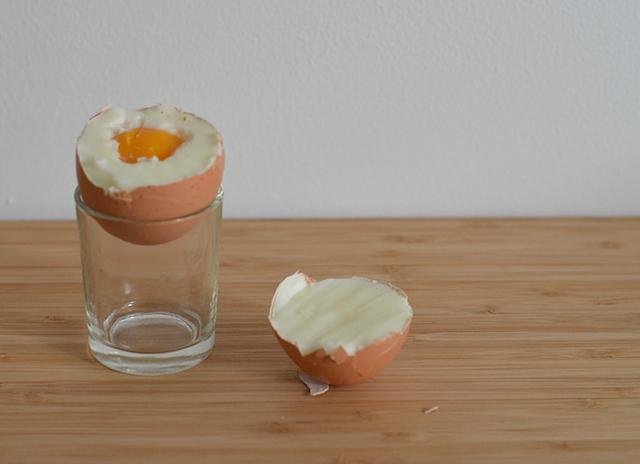 een hard gekookt ei