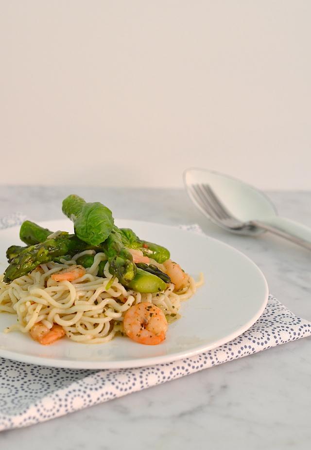 slim pasta met asperges