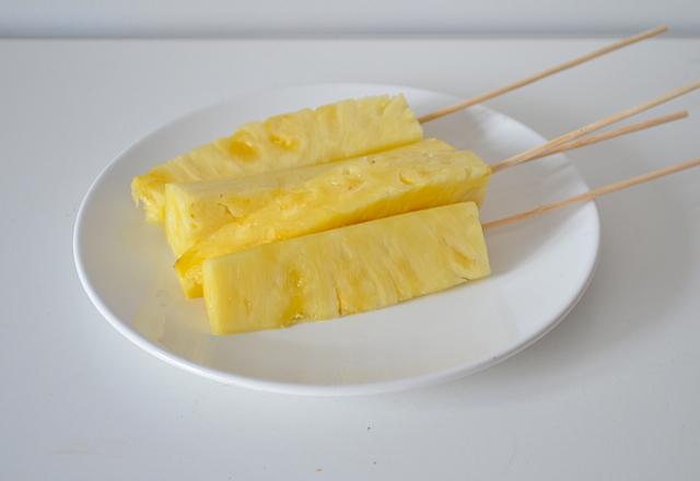 ananas op de bbq