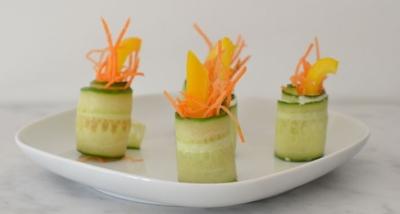 3 x gezonde komkommerhapjes