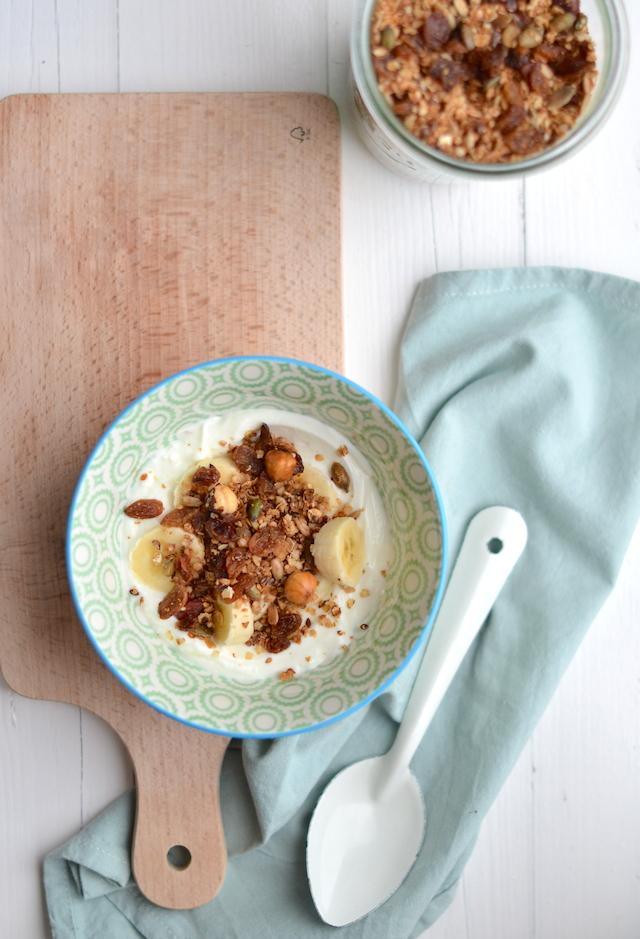 granola met hazelnoten