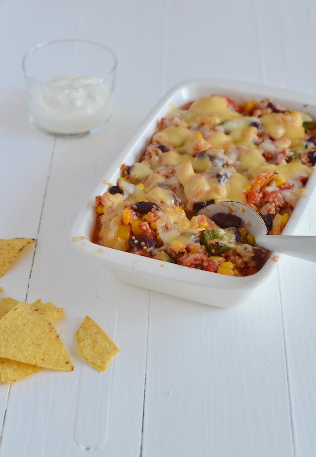 mexicaanse quinoa ovenschotel