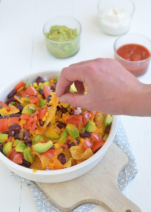 nachos uit de oven