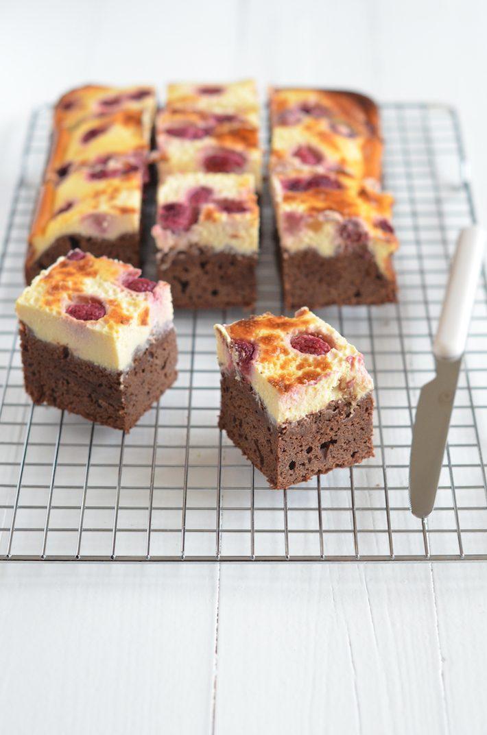 brownies met cheesecake