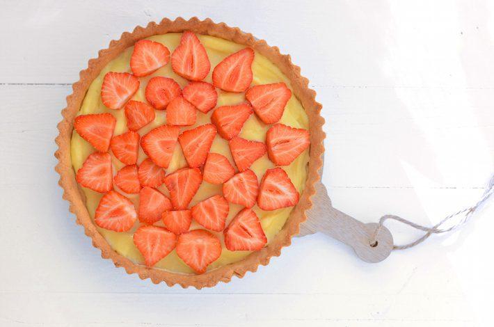 aardbeien meringuetaart 2