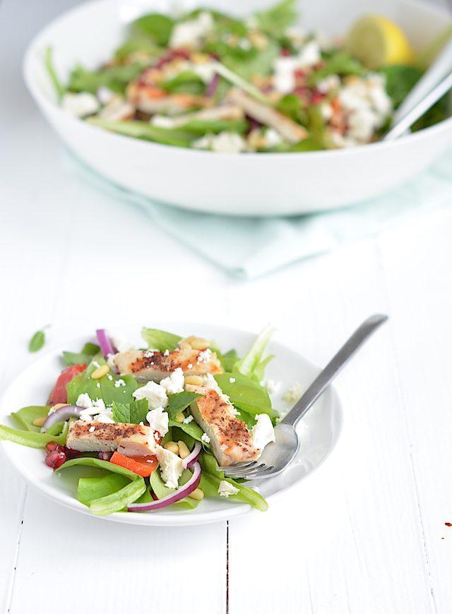 salade kip granaatappel