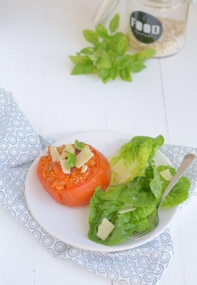 Easy: Gevulde tomaten met risotto