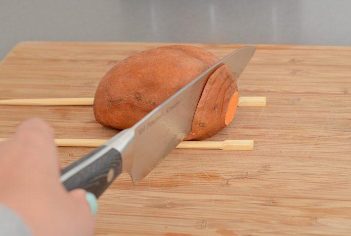 hasselback zoete aardappel 1