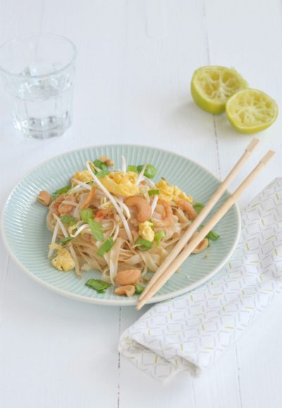 Pad Thai met garnalen