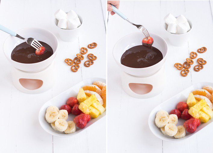 Chocoladefondue aardbei