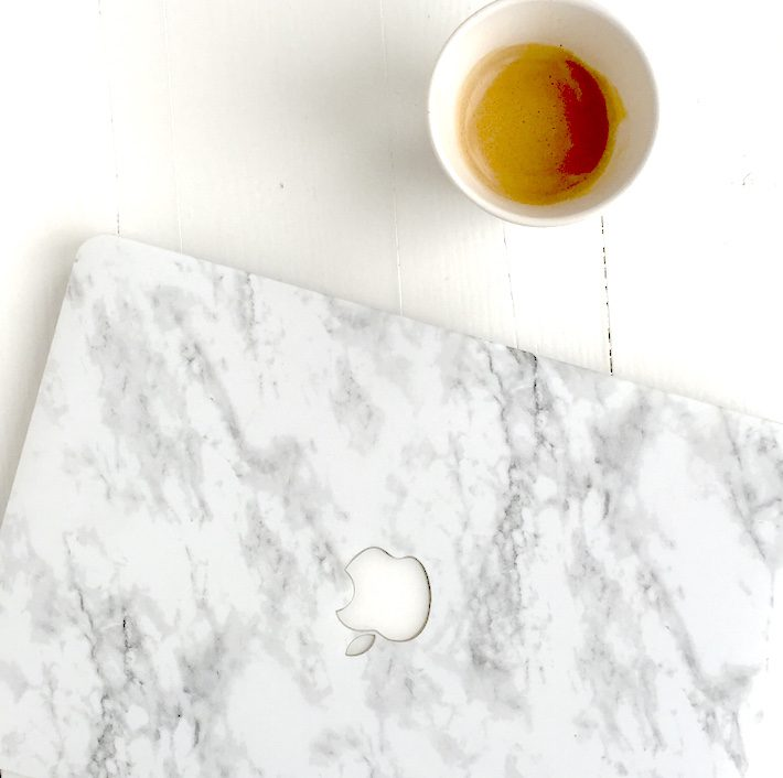 diary marble laptop cover