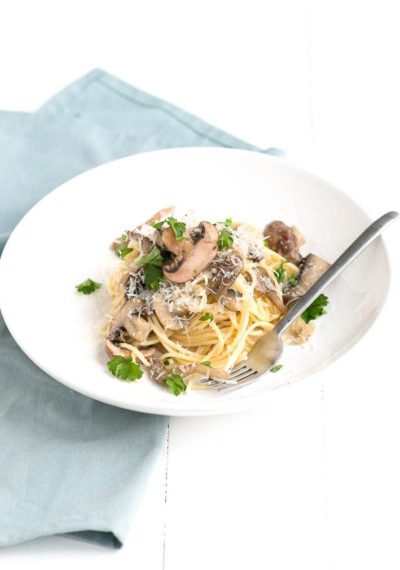 Pasta met champignon roomsaus