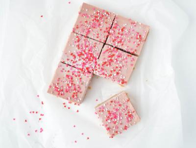 Valentijn frambozen cheesecake
