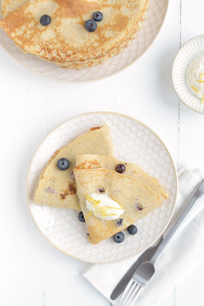 speltpannenkoek met blauwe bessen