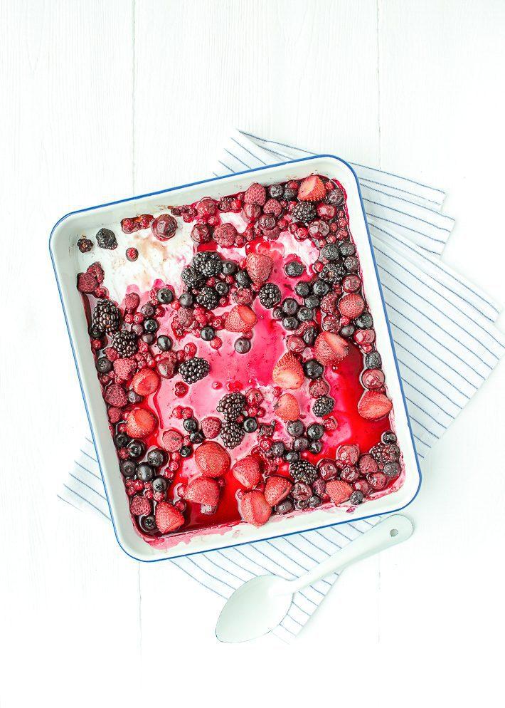 Yoghurt met geroosterd fruit