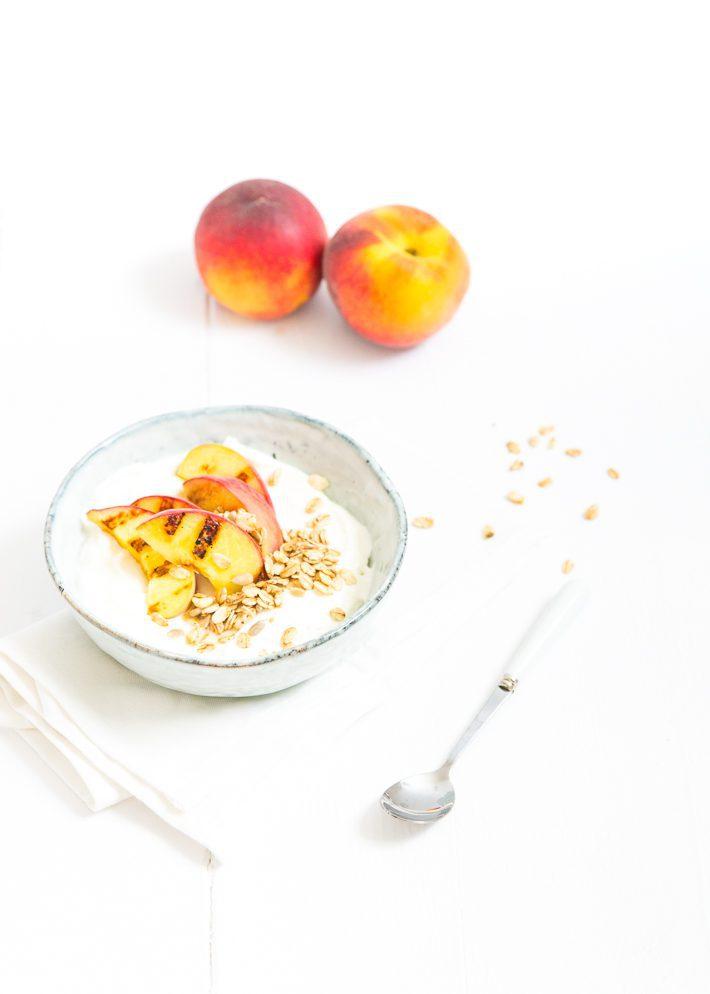 kokosyoghurt met gegrilde perzik-4