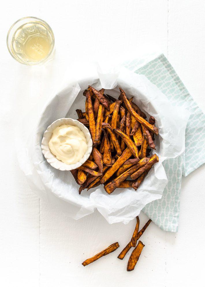 Zoete aardappelfriet airfryer