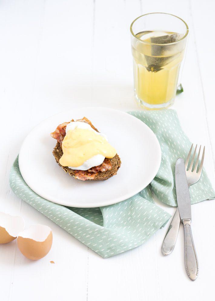Eggs benedict met Hollandaisesaus