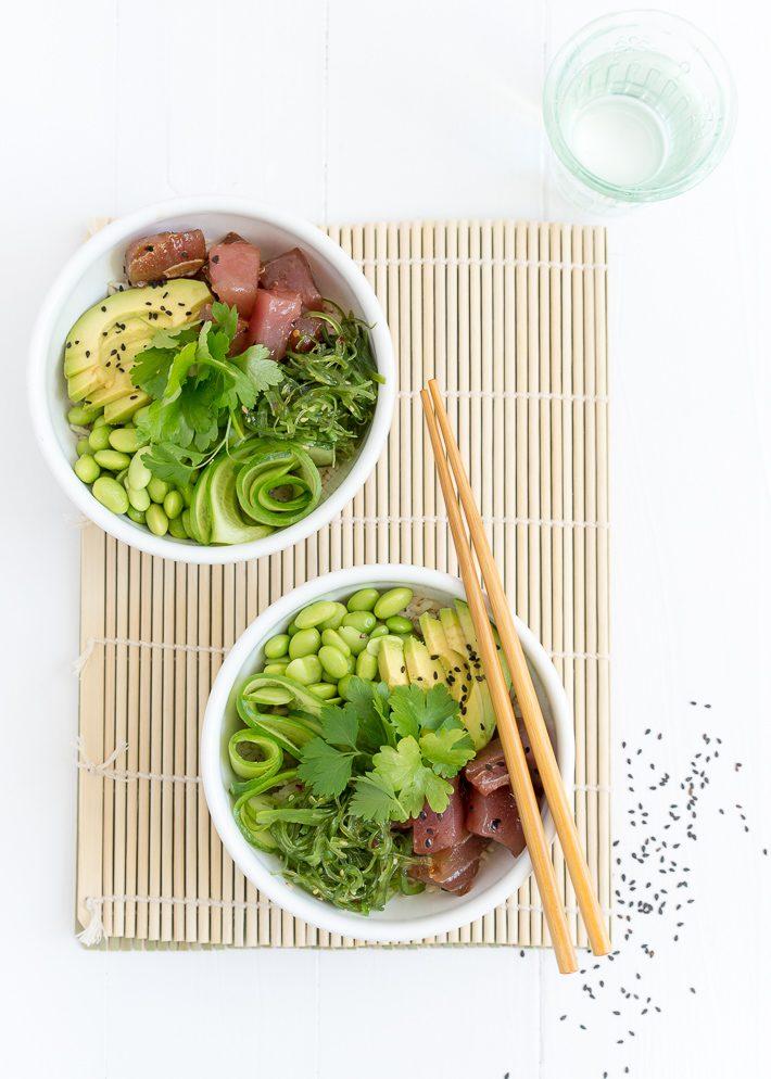poke bowl met tonijn