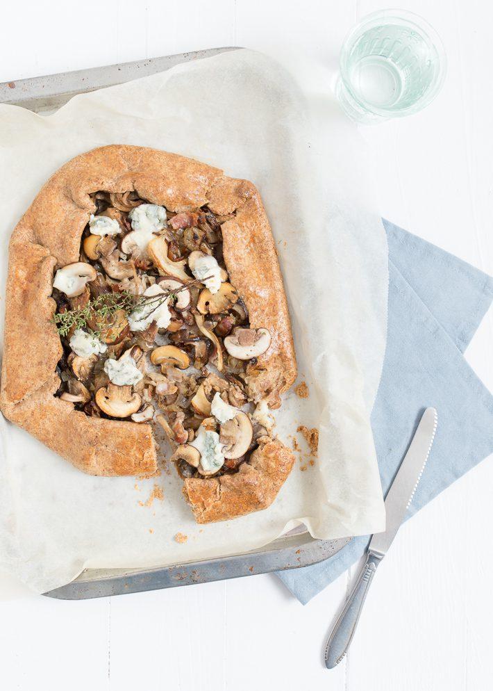 galette met paddenstoelen