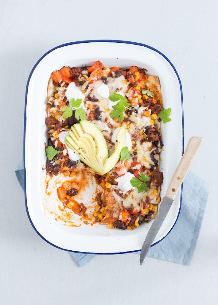 mexicaanse taco lasagne