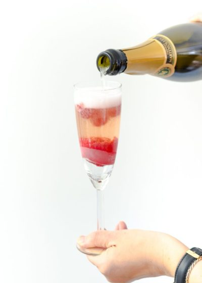 Champagne Float cocktail (video)