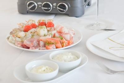 Gourmetten met vis