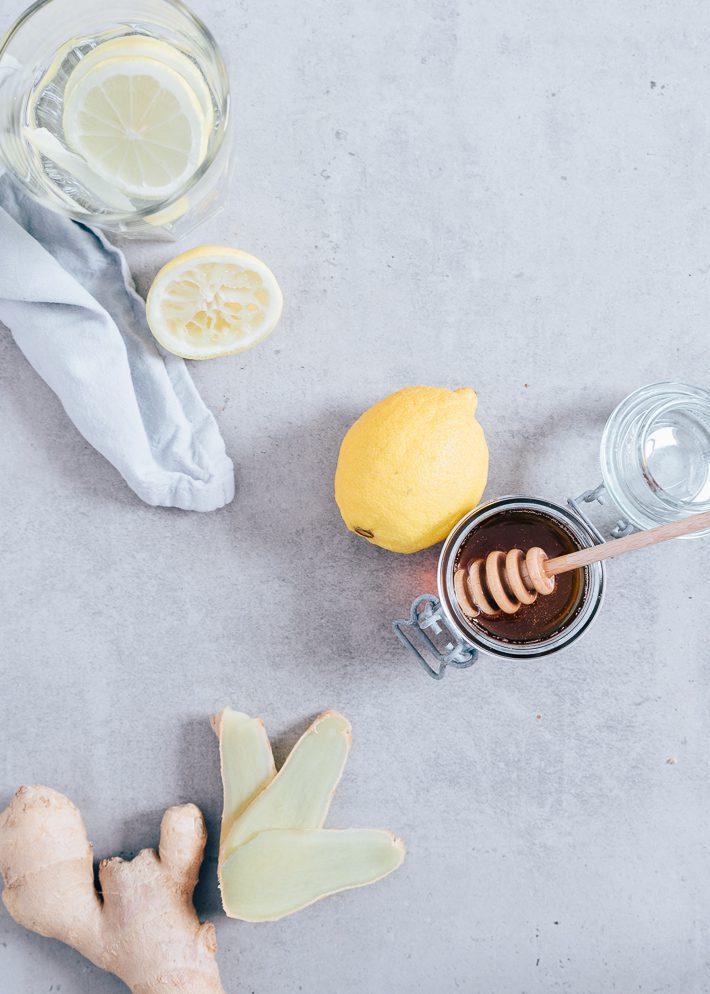 vers gemberthee met citroen