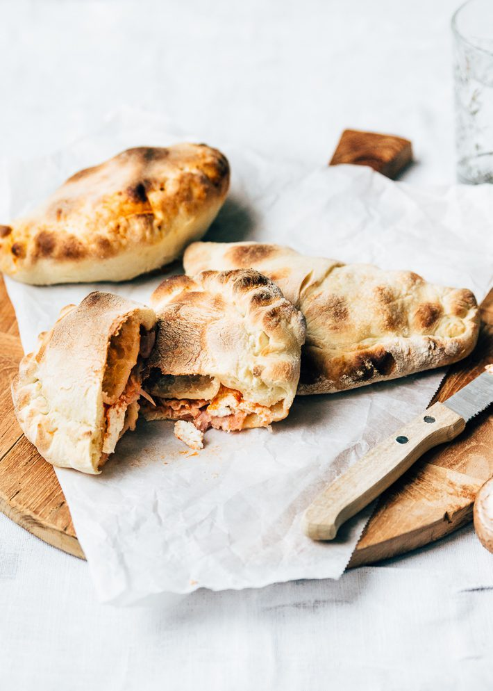 Mini calzone pizza's