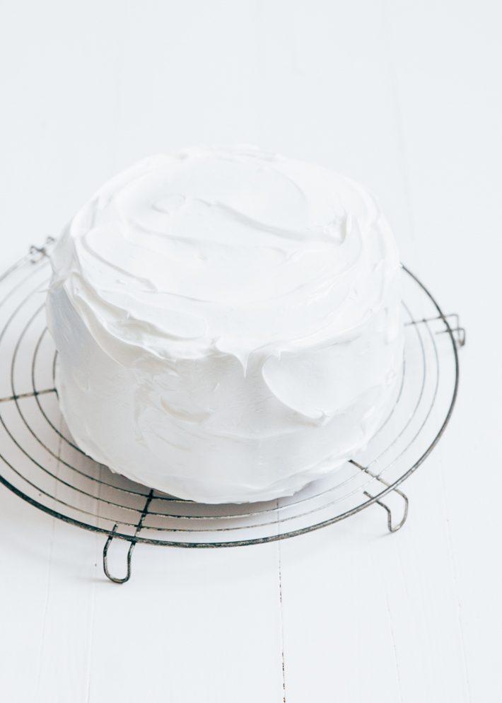 Citroen meringue cake