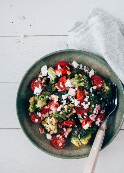 Salade van geroosterde broccoli