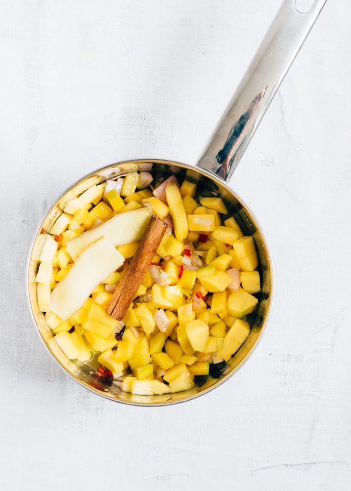 Pappadums met mangochutney
