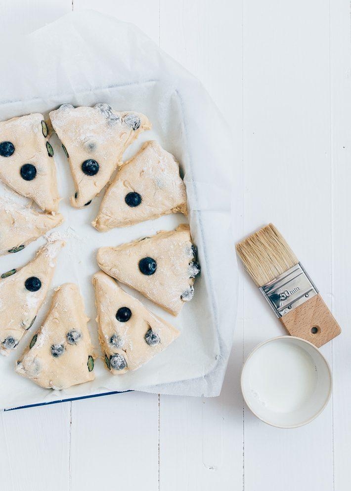 blauwe bessen scones