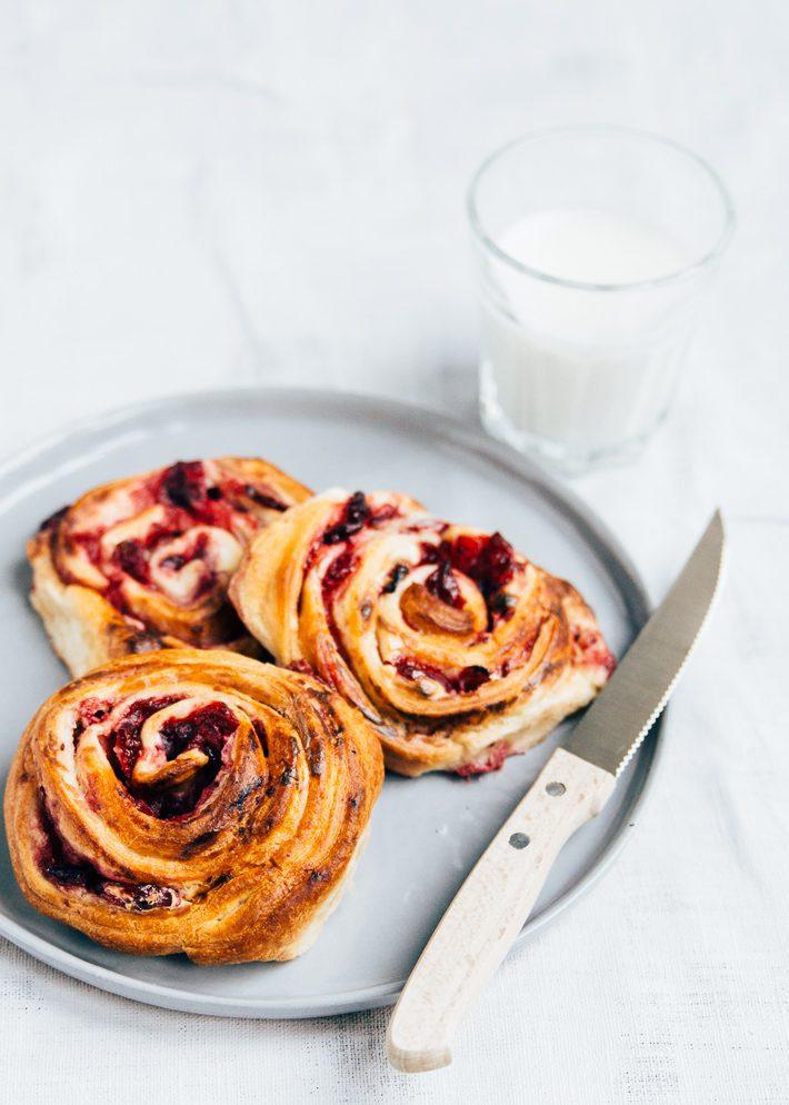Cranberry creamcheese rolls