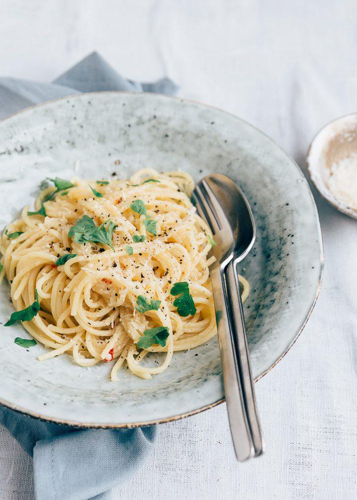 pasta met parmezaanse kaas