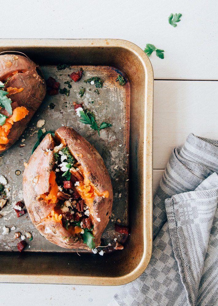 zoete aardappel uit de oven