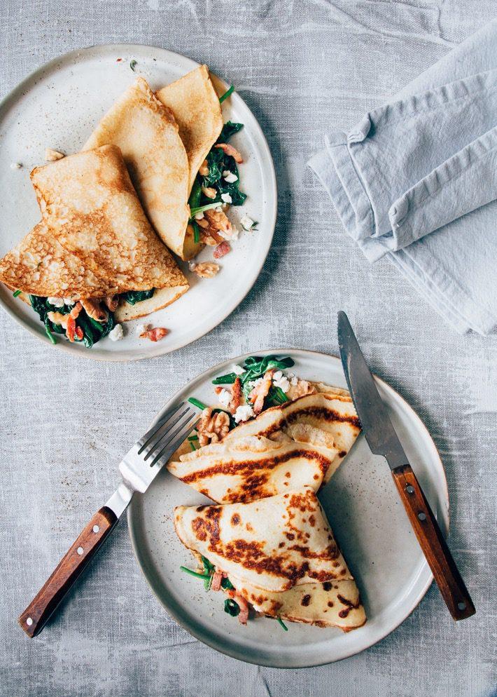 Extreem Hartige pannenkoek met spinazie en spekjes - Uit Pauline's Keuken #IA86