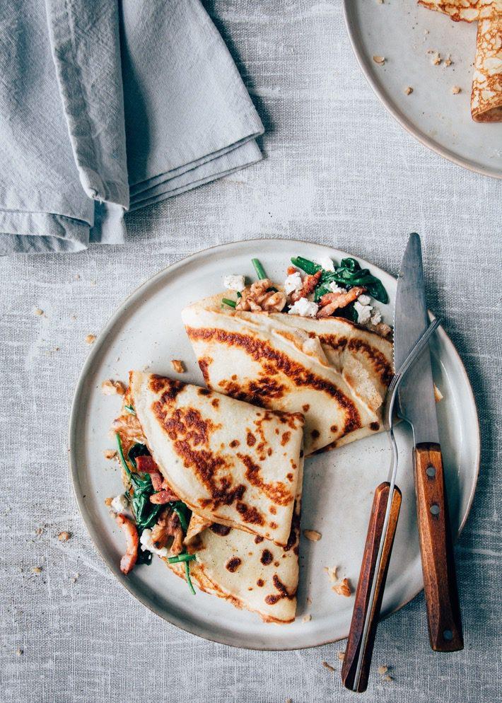 Extreem Hartige pannenkoek met spinazie en spekjes - Uit Pauline's Keuken #NP51